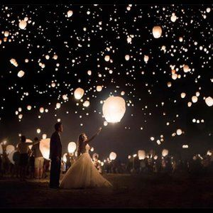 Lot of 20 Wedding Sky Lanterns